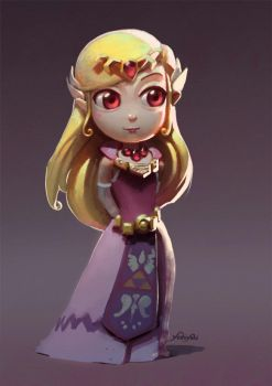 Princess Zelda by yoshiyaki
