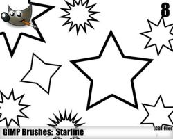 Starline Brushes - Gimp by ML-Worlds