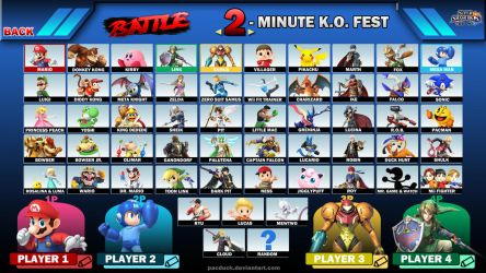 Super Smash Bros. Wii U/3DS Roster by PacDuck