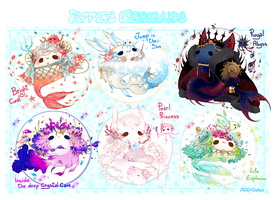 [CLOSED] ADOPT AUCTION 324 - Piffies Mermaids by Piffi-sisters