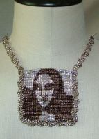 Mona beaded necklace by nellielaan