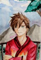 Ninjago Kai Watercolor by Moofuupi