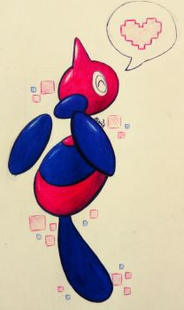 LOVE 4 Little Z - The Porygon-Z by JDandCookies