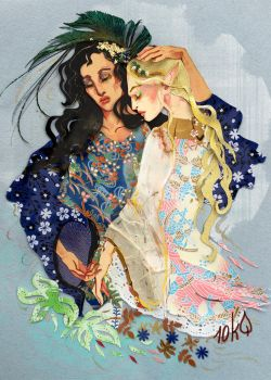 Galadriel and Melian by sassynails
