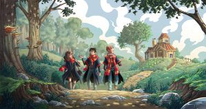 HP - Back from Hagrid's by Mouphie-Art