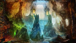 fantasy cave - 2 by Nneila