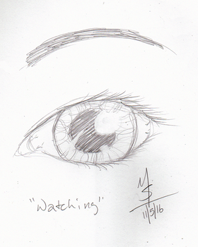 Sketchavember 11/5/16 - Watching by Ginkage