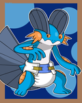 Padded Pokedex 260: Swampert by Pawprint-Padding