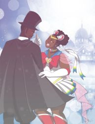 Sailor Moon X Tuxedo Mask (commission) by Akeem