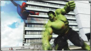 Hulk and Spider-Man by tiangtam
