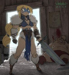 The Blonde Barbarian by KendallHaleArt