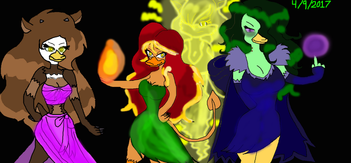 The Beastly Foursome Babes of 2017 by Elzathehedgehog