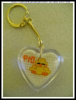 Chick keyring cross stitch by lamu1976