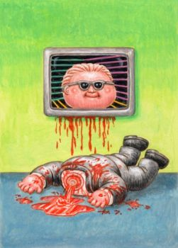 FOR SALE Garbage Pail Kids Max Headroom ColorRough by DeJarnette