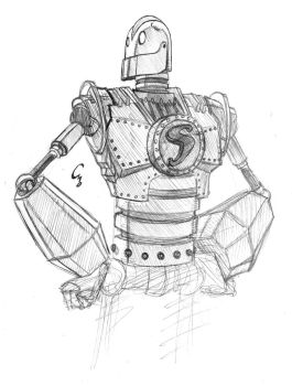 Iron Giant sketch by ElectroCereal