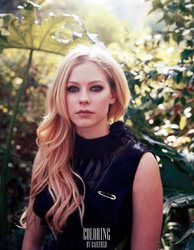 Avril Lavigne Coloring by LisCaulfield