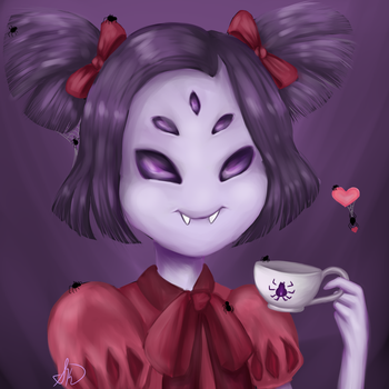 Spidey Time - Muffet by SpecialKai-chan