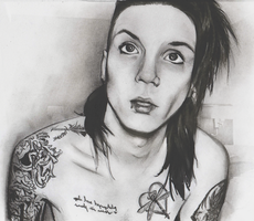 Andy Biersack Drawing by LilySmilingfish