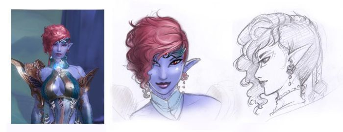 Nelvana - sketches from Aion by AonikaArt