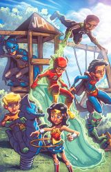 JLA Kids by Tim Lattie and Ryan Lord by RyanLord