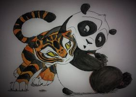baby Po and Tigress by nymeriadire