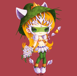 White Green and Gold by Gya