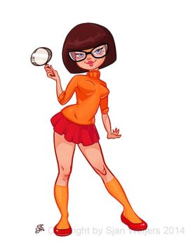 Velma from Scooby Doo by SjanWeijers