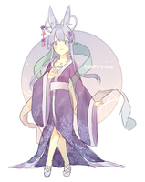 [CLOSED] Blue Chinese Moon Bunny by Adopt-A-Fish