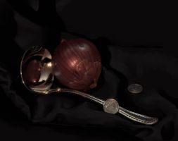 Still Life Onion by Cacodaemonia