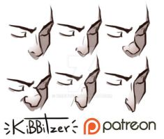 Noses Reference sheet by Kibbitzer