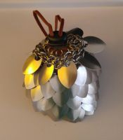 Scalemaille Dice Bag (Full View) by littledarkeyes