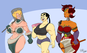 Amazons hanging out by art-ikaro