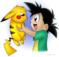 Oh Hi There, Pikachu by PokeChibiArtist98