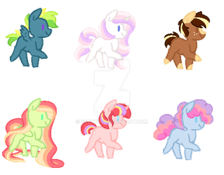 Mane 6 Next Gen Babies OTA [CLOSED] by gr0ttieadopts