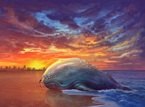Beached Whale by shellz-art