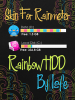 Skin for Rainmeter Rainbow HDD by Isfe