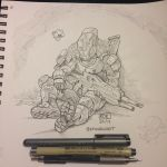 Tired Titan ink by KevinRaganit