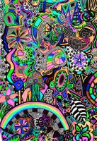 psychedelic garden by elle1981x