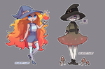 Sun and Mushroom witches |Pixel animation| by SouOrtiz