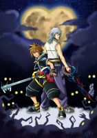 Sora and Riku (Kingdom Hearts) by VII-Magician