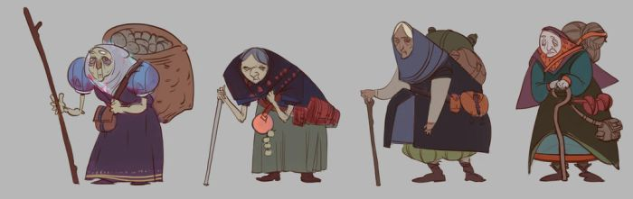 Old Ladies character design by theKinhe