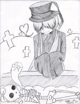 Undertaker and Kitty (sketch) by TheUndertakersKitty