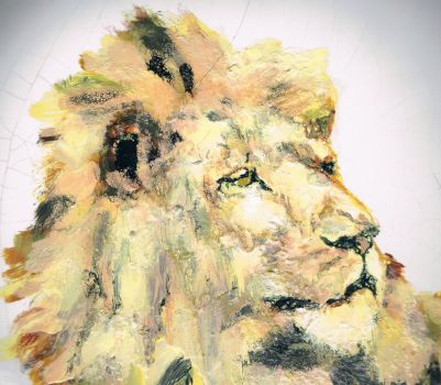 Watchful Lion by Phil-Humor