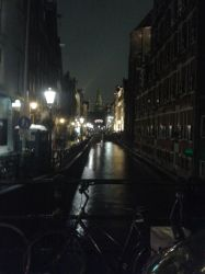 Amsterdam canal alley at night by JacobBakk