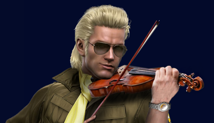 -PHOTOMANIPULATION- KAZ AND HIS FIDDLE by Just-Got-Aze