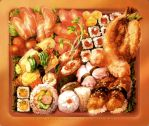[Mousepad Design] - Sushi Bento by muddymelly