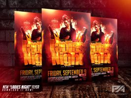 Ladies Night Party Flyer Template by pawlowskiart