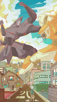 Giant Robot Battle by Wingza