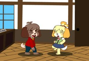 Digby vs Isabelle by Mr-Shin