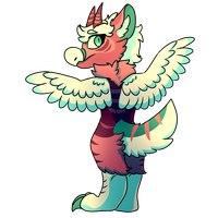 Aluoi - Art Trade by Pixel-Coyote